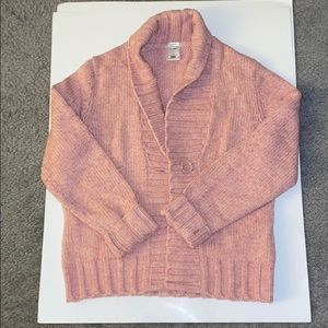 Old Navy pink knit cardigan